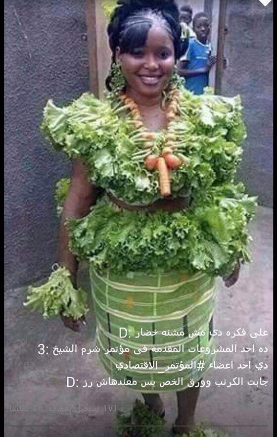 レタスで出来たドレス♪ どうしても首飾りに目がいきますがw pic.twitter.com/JaNklzs0WK