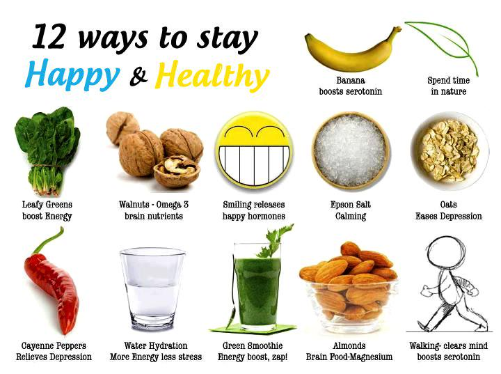 12 ways to stay happy and healthy :) via @LoriShemek @travelnkids #food #photo https://t.co/lNCx8i0yy2