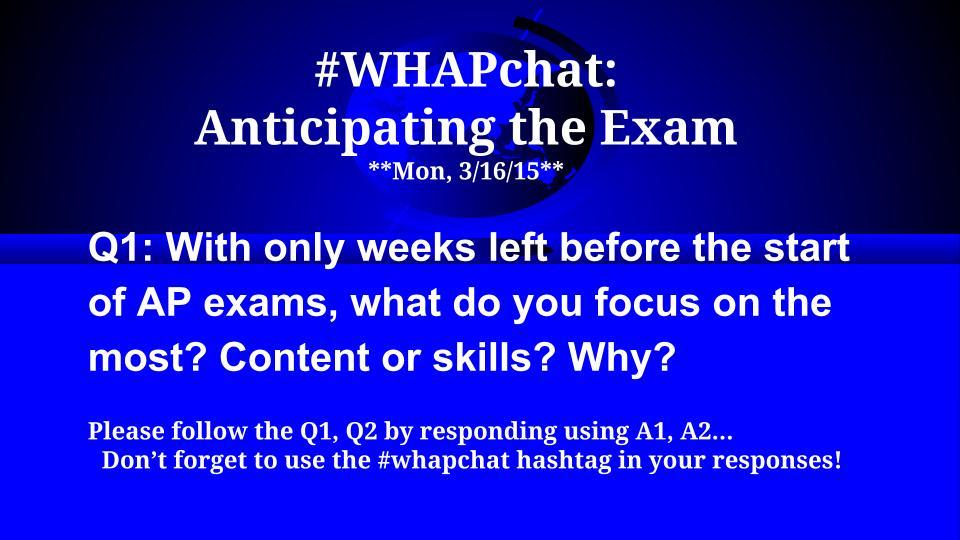 Thumbnail for #WHAPchat: Anticipating the AP Exam