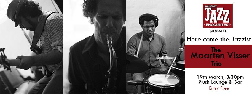 THIS WEEK!Thursday #Jazz Encounter feat the incredible Maarten Visser on Sax along with @bassbumpy and Nilanjan http://t.co/YpwnrPGhad
