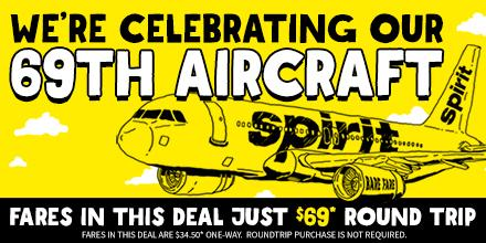 [Deal] We're celebrating a new plane! Fares Just $69.00* Round Trip Incl Taxes & Fees! +Restr http://t.co/n9m7igmvio http://t.co/v04oW71iOu