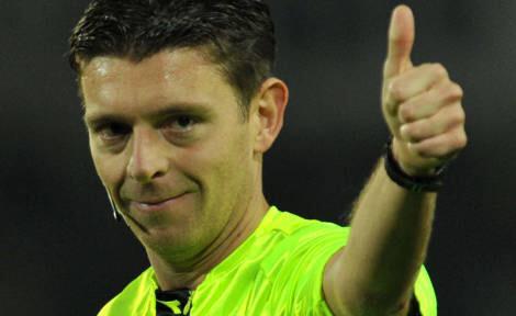L'arbitro internazionale Gianluca Rocchi dirigerà il derby di San Siro Inter-Milan.