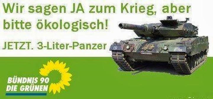 Bildergebnis für bündnis 90 grüne 3 liter panzer