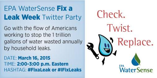 #FixaLeak Week is finally here! Be sure to join us this afternoon at 2pm ET to officially kick it off! http://t.co/PkUCdv6Prh