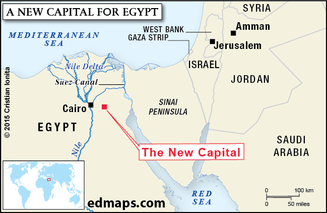 Cristian Ionita On Twitter Location Map A New Capital For A - Map of egypt with capital