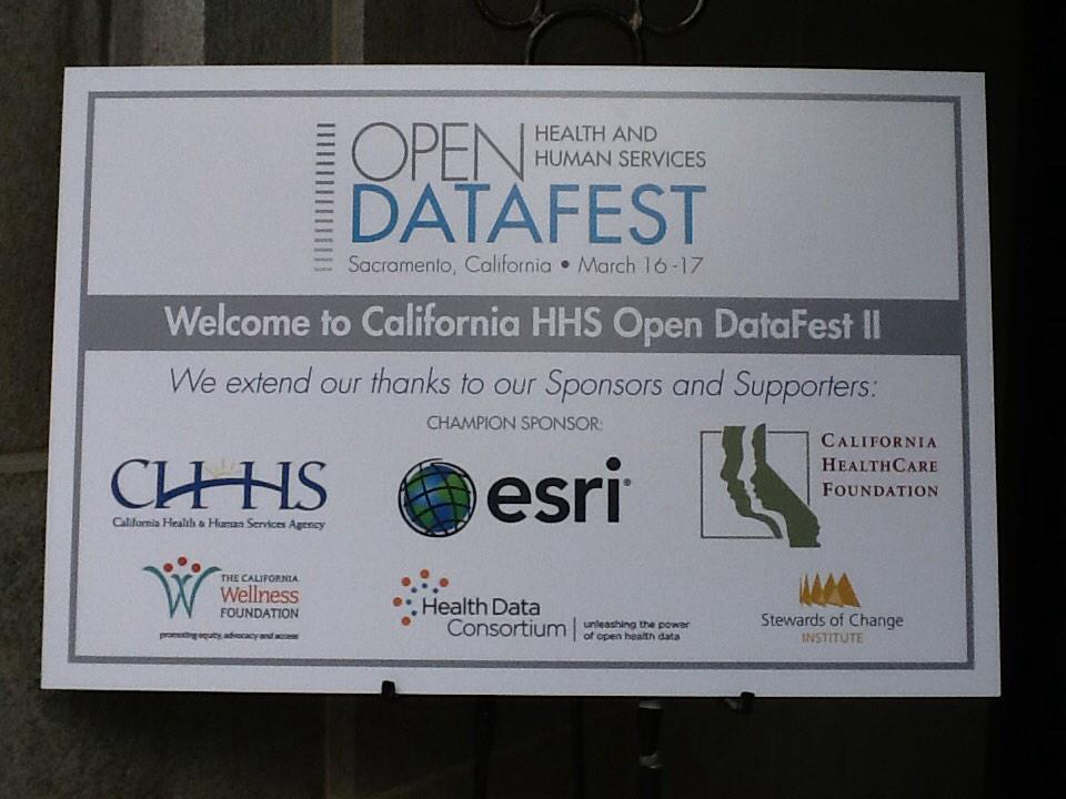 Excited for Day 1 of the CA #HHSDataFest! @CHCFNews @CHHS http://t.co/iPejoUkDX5