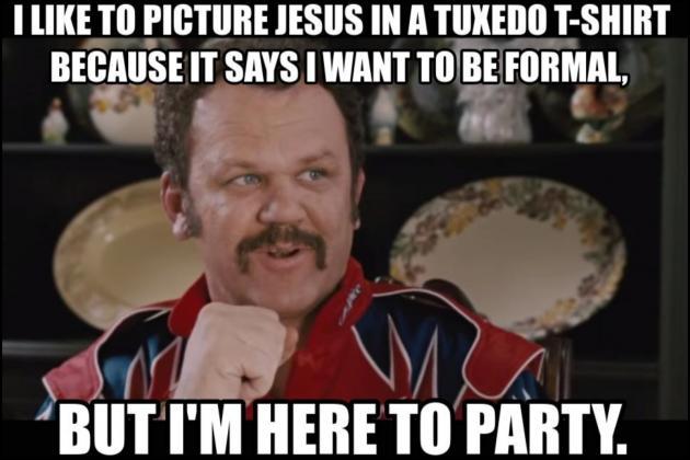 tuxedo t shirt jesus