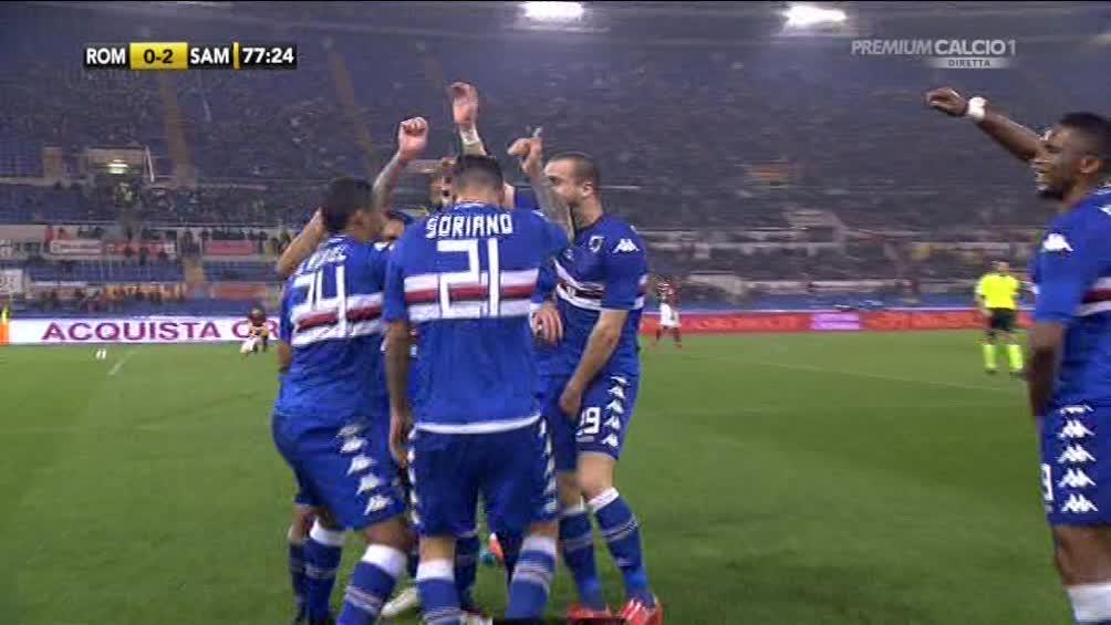 VIDEO Roma-Sampdoria 0-2: De Silvestri e Muriel affondano i giallorossi che rimangono in 10