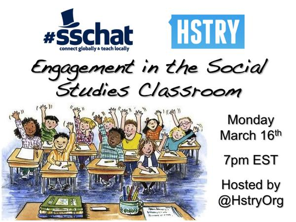Welcome to tonight's sschat! Please share where and what you teach. #sschat http://t.co/d2YfO8NoXa