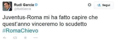 FOTO RUDI GARCIA su twitter, le ultime parole famose