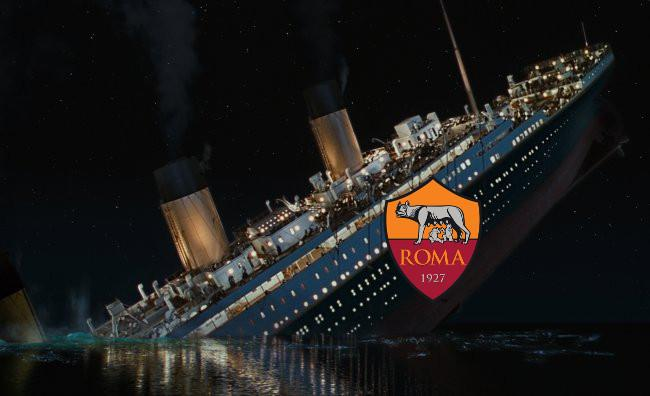FOTO Meme divertente: la Roma affonda come il Titanic