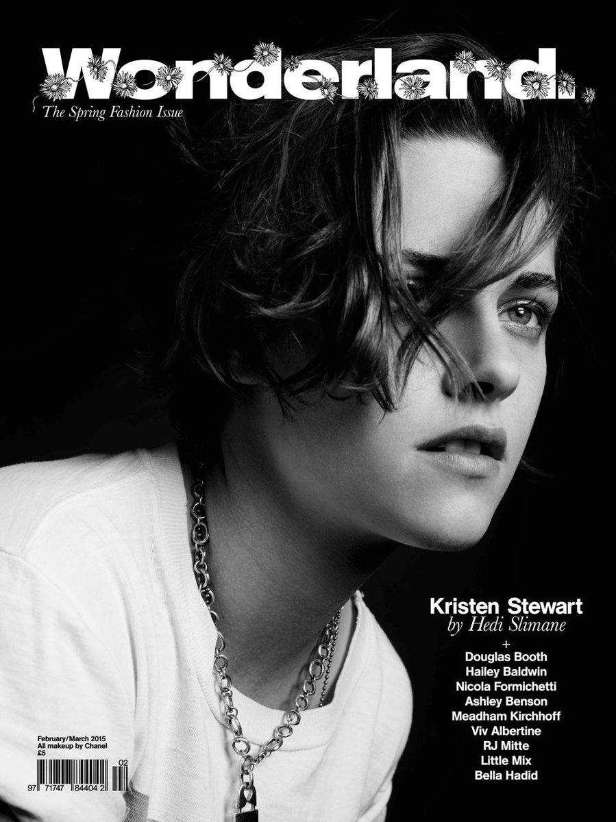 #KristenStewart featured in Spring issue of @wonderlandmag w/ hair by @hairbyadir #SWAeditorials @hedislimanetwit http://t.co/Wk8kiUciQu