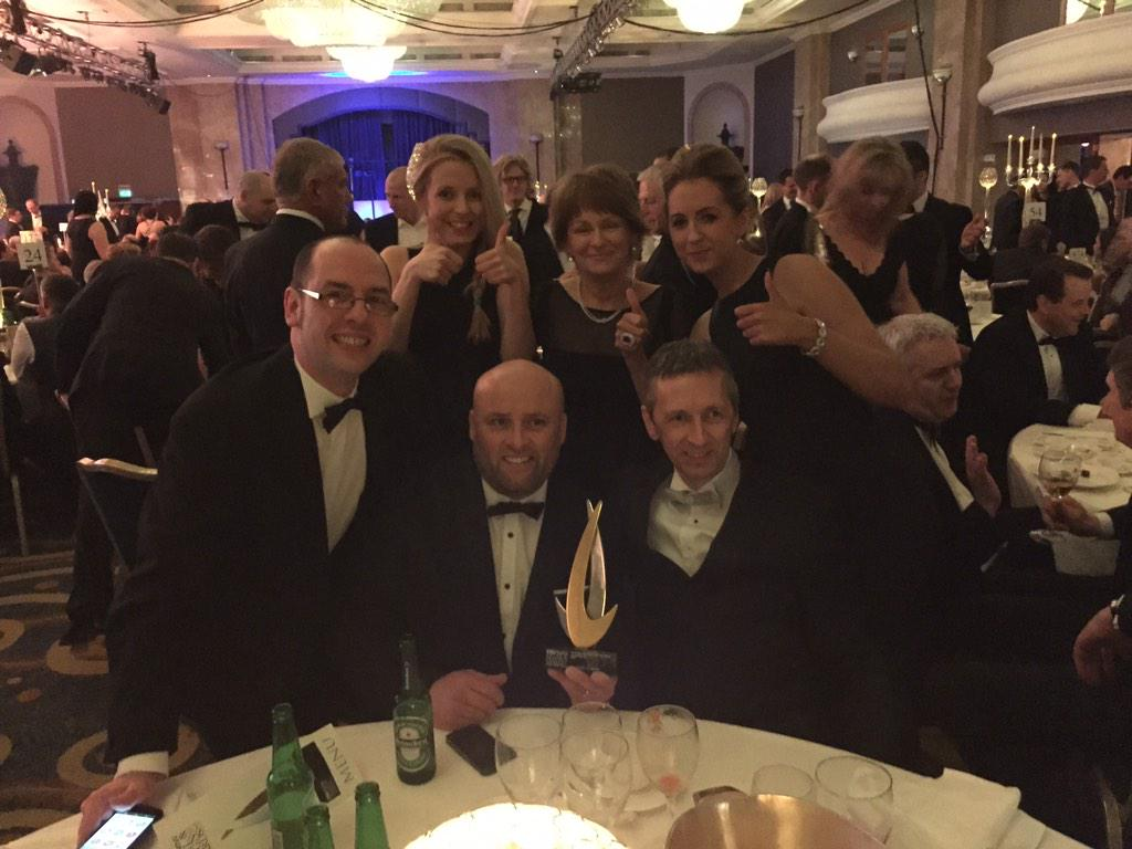 Absolutely delighted that we have just won UK Kitchen Retailer of the Year 2015 award #kbbawards #welldoneteamgeddes