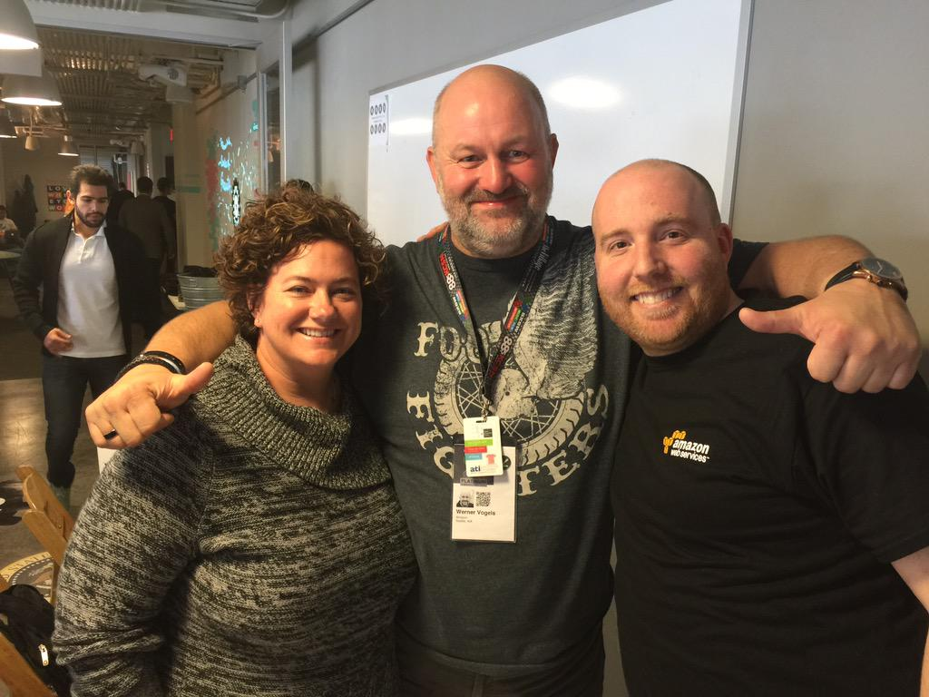 Awesome epic office hours at @CapitalFactory with @mellieprice and Amazon CTO @Werner http://t.co/a64MdFvIzX