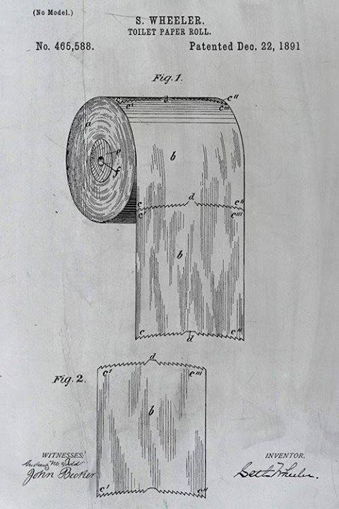 The patent for toilet paper should settle the over vs under debate