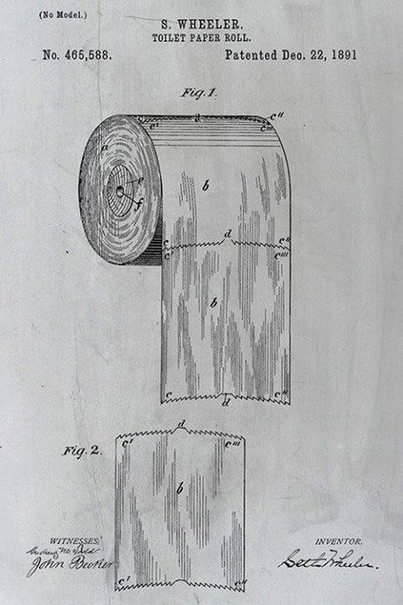 This 124-Year-Old Patent Reveals The Right Way To Use Toilet Paper