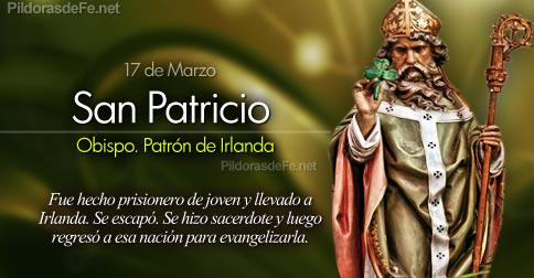 #Santoral | Hoy la Iglesia recuerda a San Patricio. Obispo y patrón de Irlanda