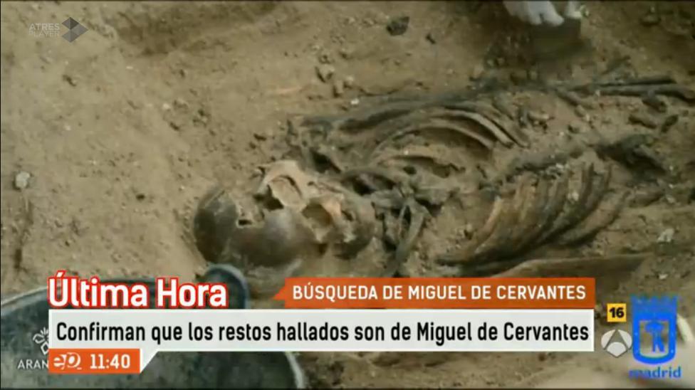 ÚLTIMA HORA. Momento en el que se han encontrado los restos de Miguel de #Cervantes http://t.co/rluQF9VRjN