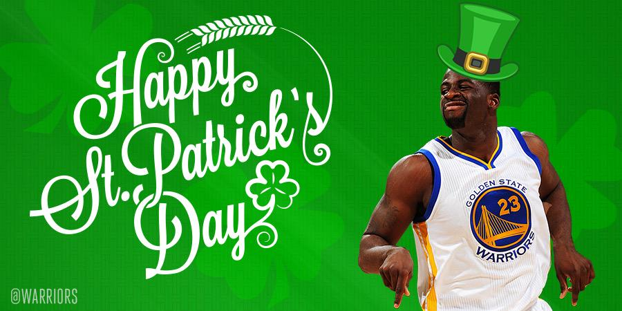 RT @warriors: Hope you're wearing some GREEN today, #DubNation! ? http://t.co/KhLTNYC64f