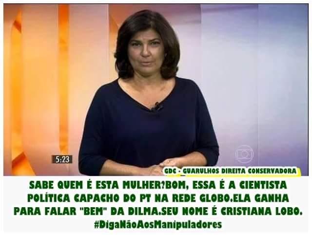 #ParabensMoro RT @PresbEvandro: CRISTIANA LOBO, CAPACHO DO PT. http://t.co/u1MjGSqhyR