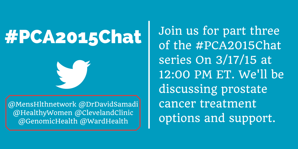 Thumbnail for Prostate Cancer Chat Part III #PCA2015Chat
