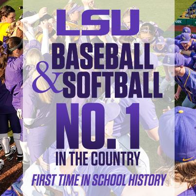 We're No. 1! @LSUbaseball @LSUsoftball #GeauxTigers http://t.co/hAKrGzwhFe