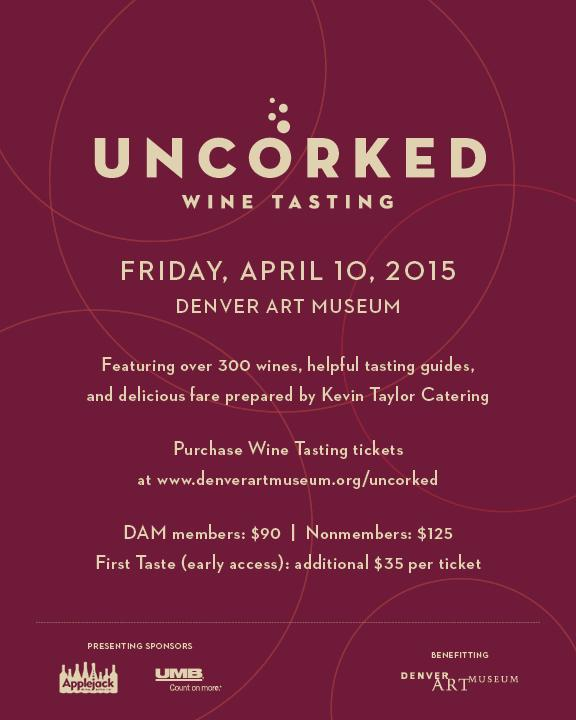 #Denver #Wine & #Art lovers: Don't miss #DAMUncorked at the @DenverArtMuseum on 4/10! Tix: http://t.co/tyNkNm0Ek2 http://t.co/kTOHcHsqka