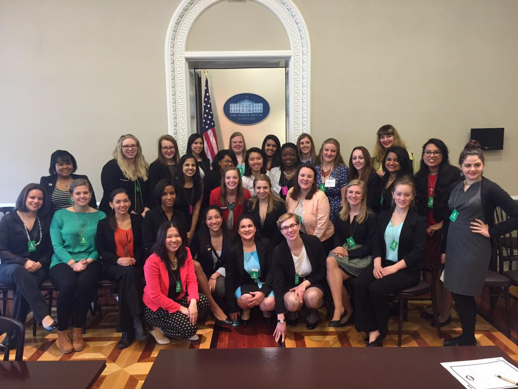 Our very own Cara Brainerd is #PoweredByU @UnitedWayASB at @WhiteHouse to meet with the Council of Women and Girls. http://t.co/oW70So9p2N