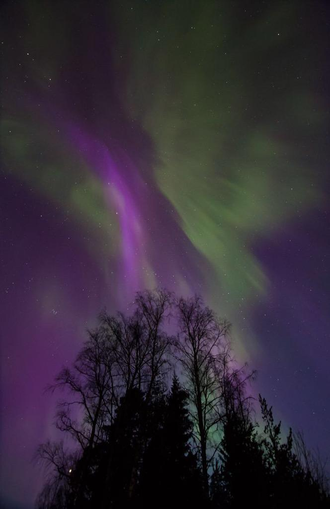 Near Helsinki in Vihti right now ! Foto Antero Huttunen #AuroraBorealis #Finland http://t.co/tP8UyYdfeh
