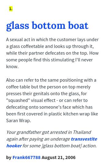 Boat bottom glass sex