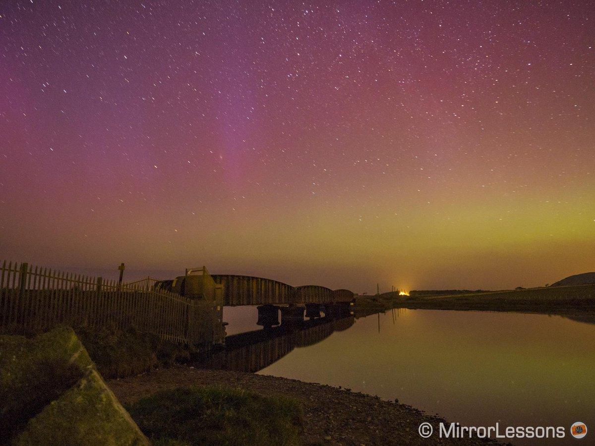 Aurora Borealis dazzles in the night sky over the UK
