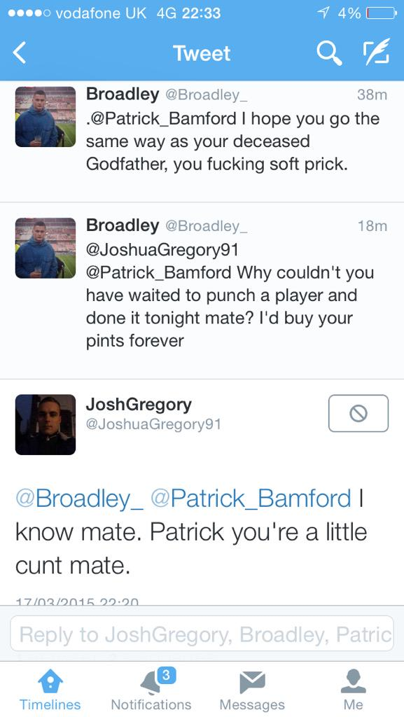 Nice to see the lad who tried to punch Wilson has learnt his lesson, scumbag fans #dcfcfans #nffc http://t.co/2kkKor9UN2