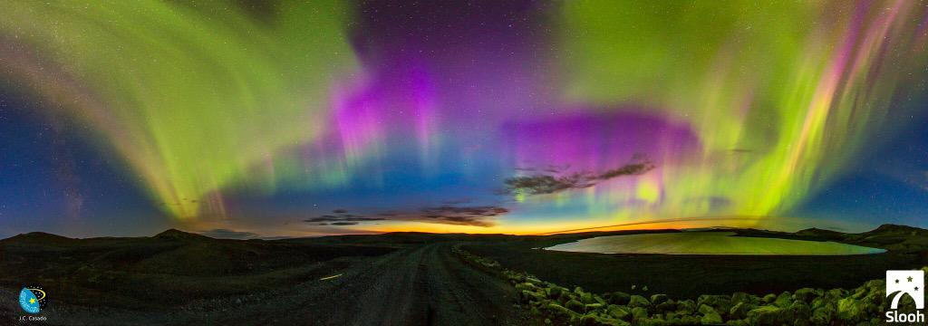 WOW | Stunning pic of geomagnetic storm hitting Iceland. Epic night of Northern Lights ahead [H/T @ABC] http://t.co/GbZNNDnXd4
