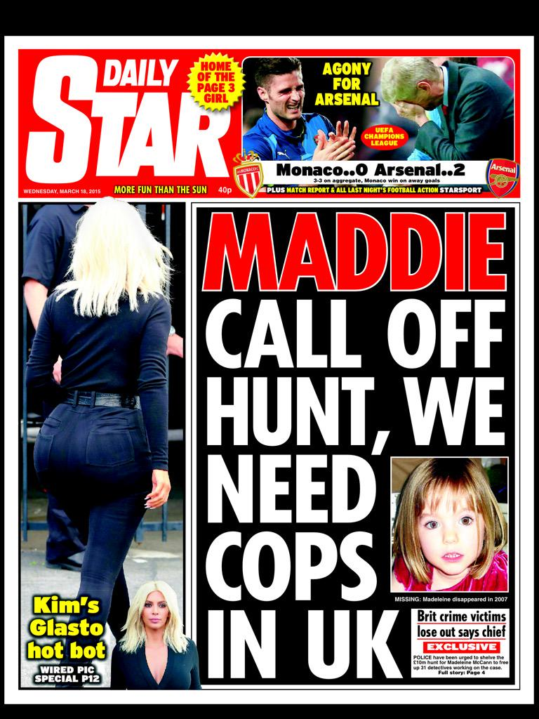 Maddie: Call off Hunt, We need Cops in UK....and response to article CAVaF01WoAAsCu3