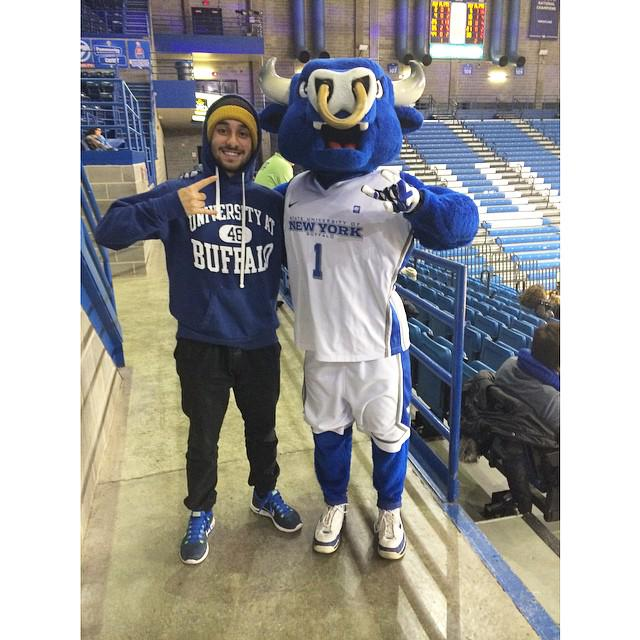 Hey, #UBuffalo. Ready for the Big Dance v @WestVirginiaU Fri.? Post your HornsUp pix now! Tag #UBDancing! Share now! http://t.co/55tOXHls9l