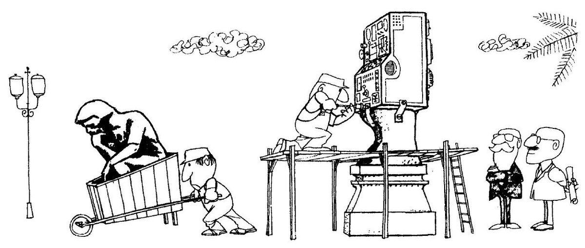 Caricatura del genial Quino.