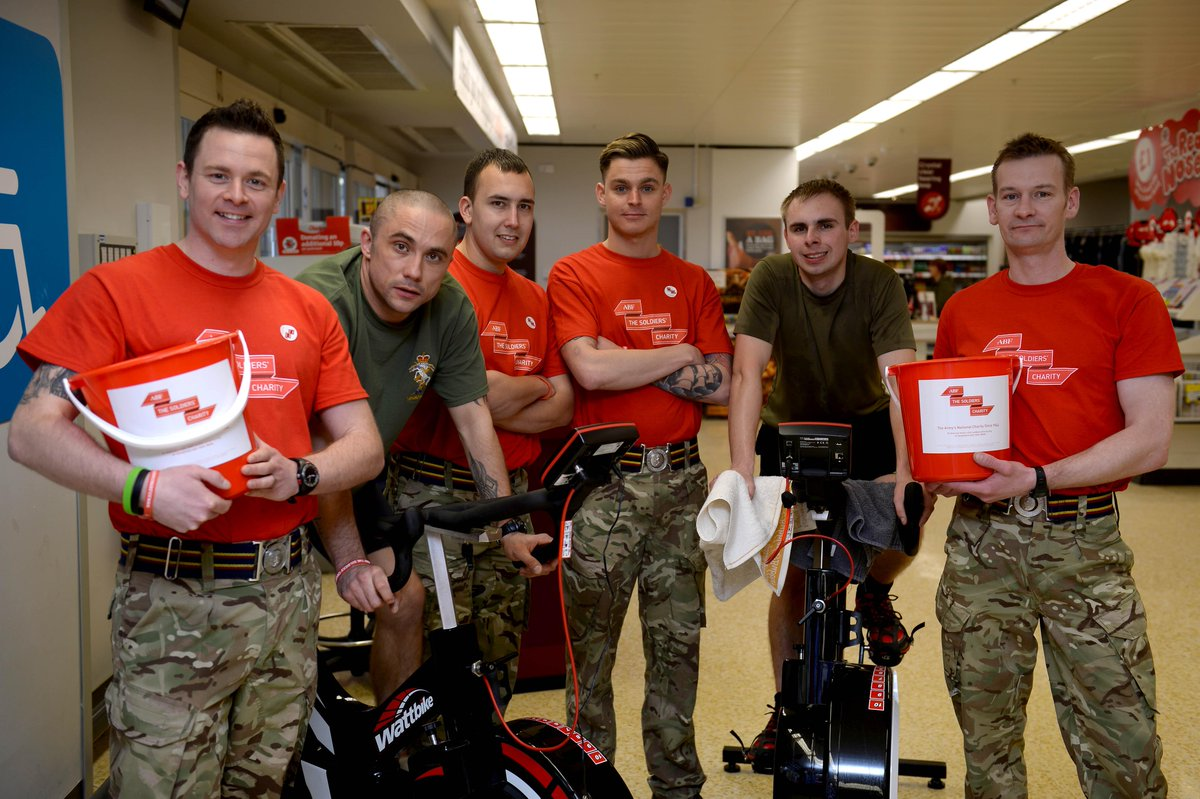 Soldiers Of HQ Coy 7th Assault Battalion REME Tackle 500 Mile Cycle Challenge Today For