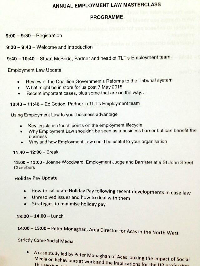 What a great morning programme at #emplawCIPD http://t.co/gEQ56ZWdh1