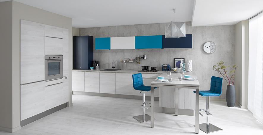 Cuisinella on twitter tendance bleu 2015 vous - Cuisine blanche et bleu ...