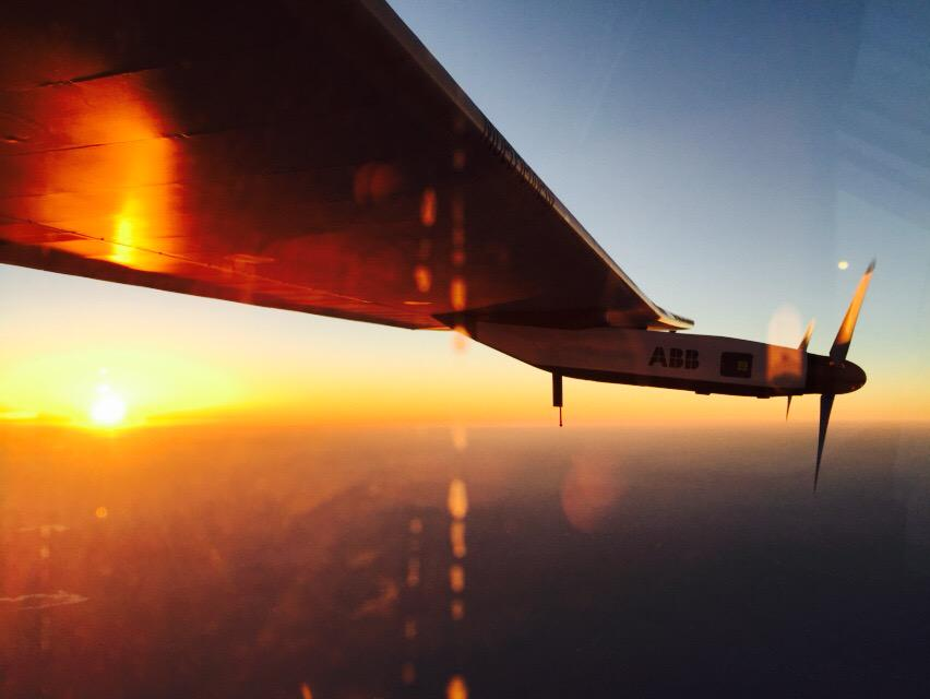 "Awesome! ""@andreborschberg: Another very special moment sunset over varanasi with @solarimpulse http://t.co/CGuo9X625J"""