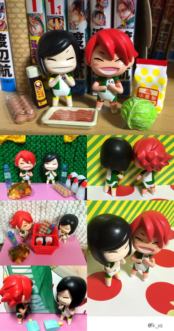 初めての泥人形できたのでお好み焼きセットと並べたりコンビニスペバごっことかしました! http://t.co/EWLEr2NiR0