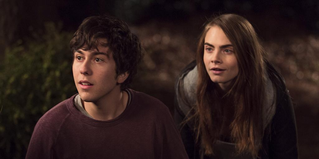 Here's a shot of @caradelevingne & me in @PaperTownsMovie! Full #PaperTowns trailer debuts TOMORROW MORNING. http://t.co/XOUXZPQ0hR