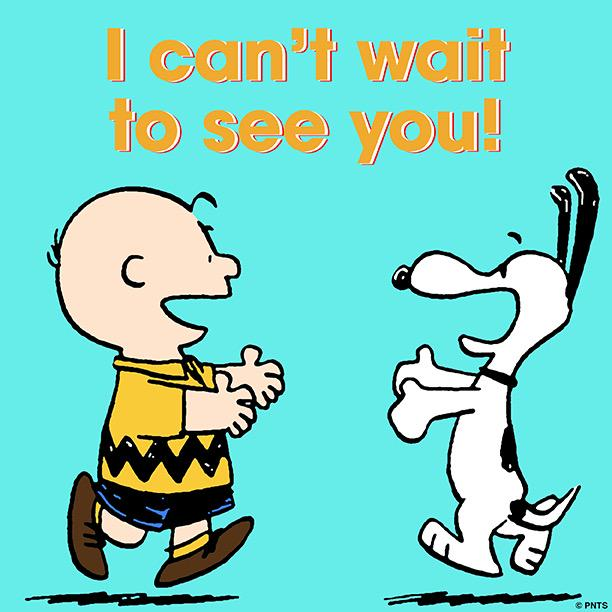 """PEANUTS On Twitter: """"I Can't Wait To See You. 👫 Http://t"""
