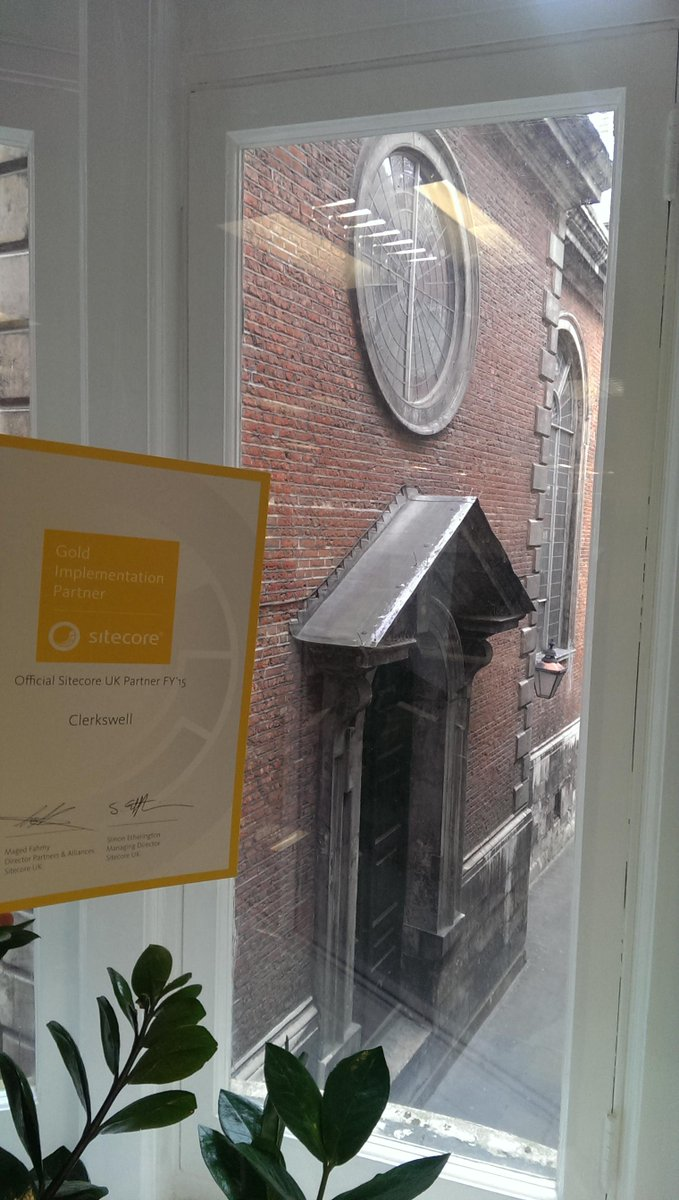 @Sitecore Our new #Sitecoregoldpartner certificate is enjoying the view from our new offices! #StPauls<br>http://pic.twitter.com/yriN8Kow2d