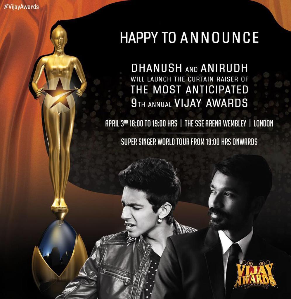 Vijay awards dhanush anirudh