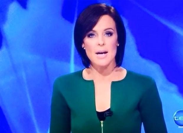 Apresentadora usa roupa com decote em formato de pênis na Austrália http://t.co/mF5op3ZgHz #G1