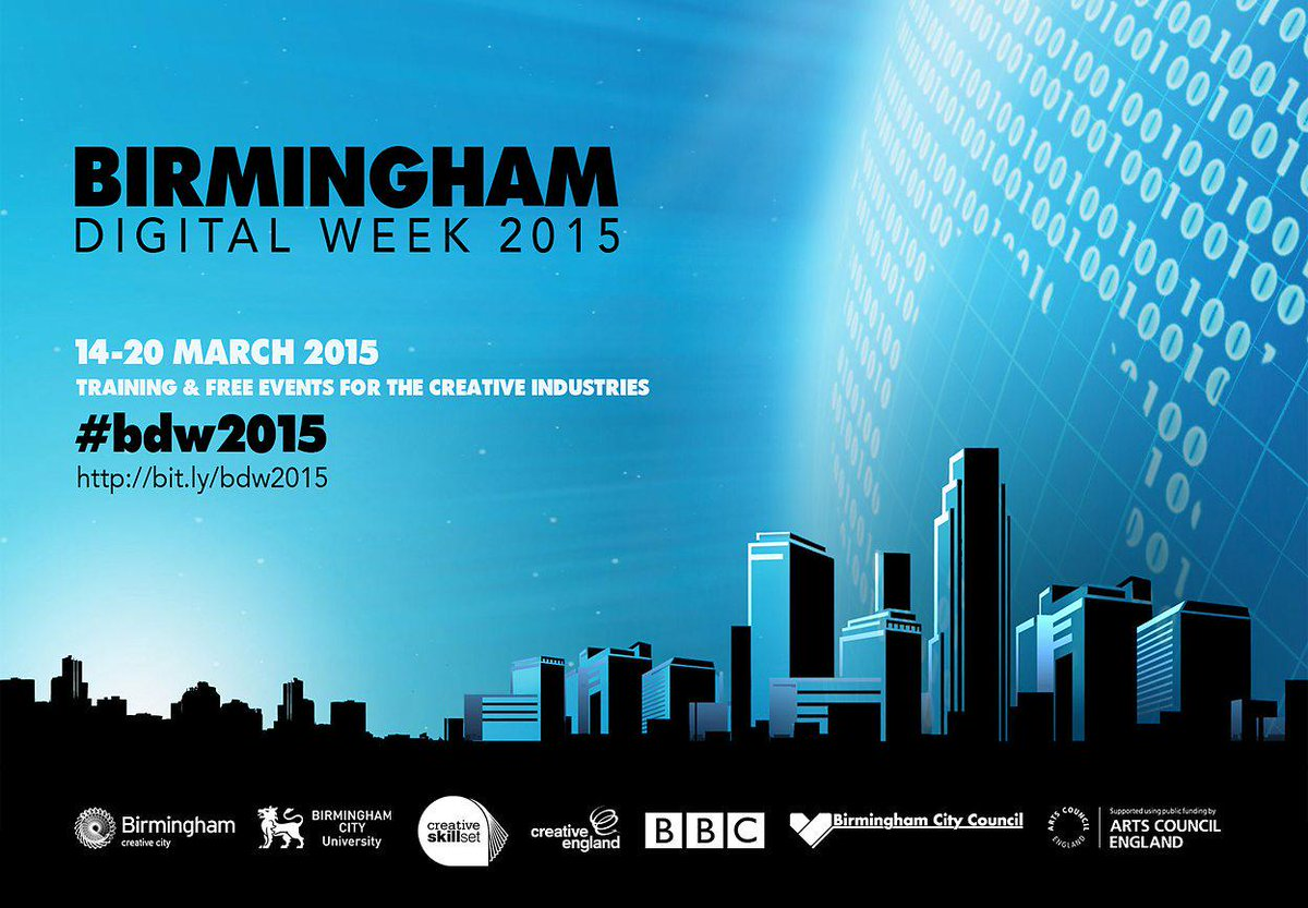 We're in Birmingham tomorrow for Digital Arts Day, and tweeting throughout the day. Follow #bdw15 for updates. http://t.co/DdY2JEgUbr