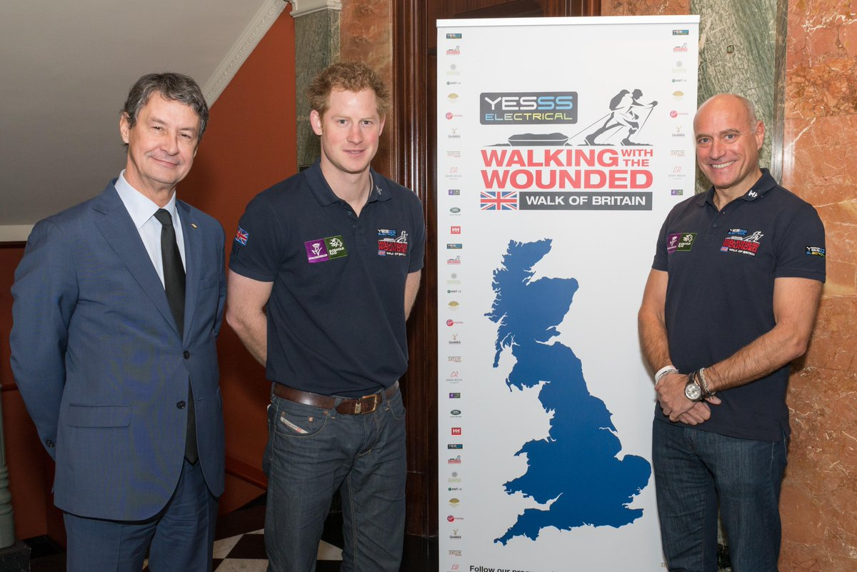 We were thrilled to host the launch of Walking with the Wounded's 'Walk across Britain' with HRH Prince Harry today http://t.co/9ygaIkuhYT