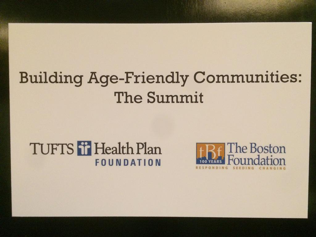 Privileged that @bostonfdn is part of the Age-Friendly Community Summit with @InaJaffeNPR and partner @THPFoundation http://t.co/CXw9qlWdzi