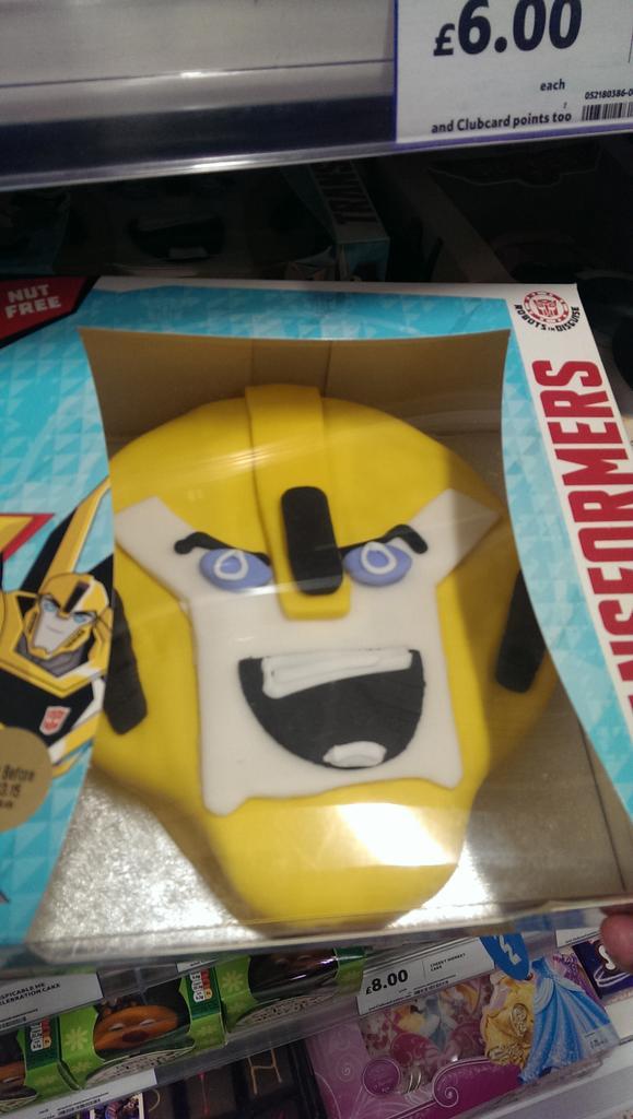 Sam Obrien On Twitter Tescos Transformers Bumblebee Cake